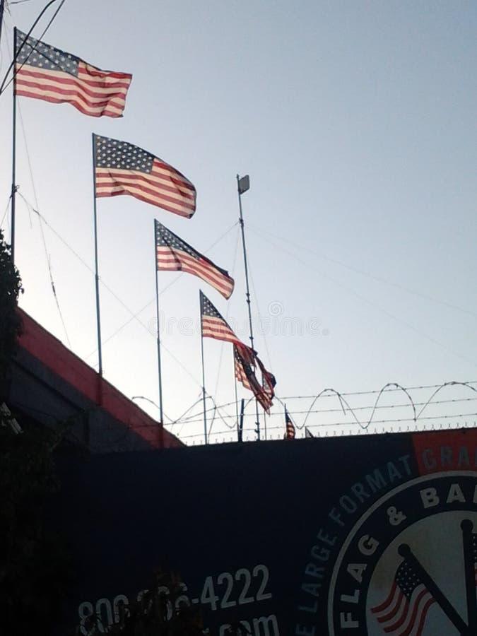 Orgullo del americano de la bandera fotografía de archivo libre de regalías