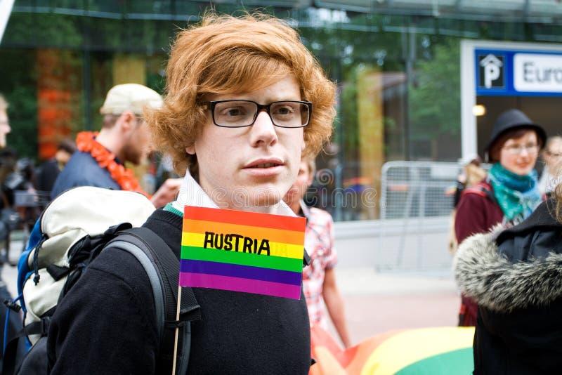 Orgullo del homosexual de Riga fotos de archivo