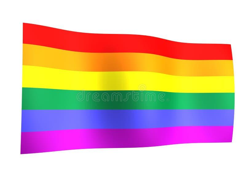 Orgullo del indicador del arco iris ilustración del vector