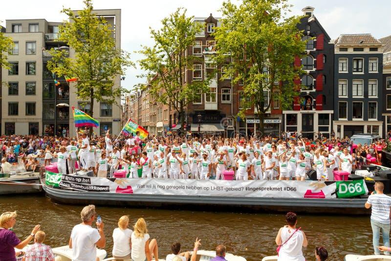 Orgullo gay 2014 de Amsterdam imagen de archivo libre de regalías