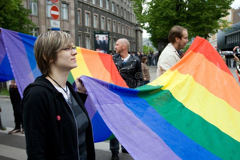 Orgullo gay de Riga foto de archivo libre de regalías