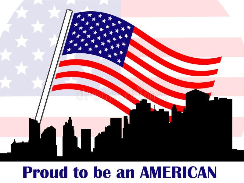 Orgulloso ser americano ilustración del vector
