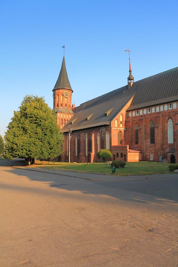 Oriëntatiepunt van de stad van de Kathedraal van Kaliningrad Konigsberg stock foto's