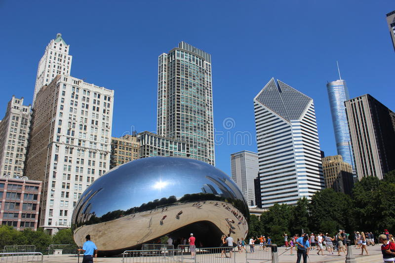 - oriëntatiepunt van stad van Chicago stock fotografie