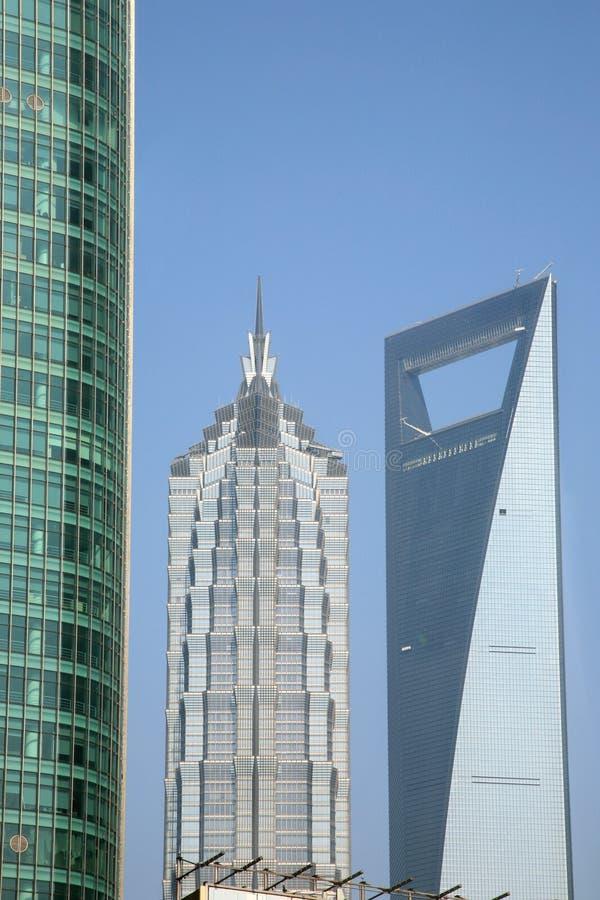 Oriëntatiepunten van de Stad van Shanghai royalty-vrije stock afbeelding