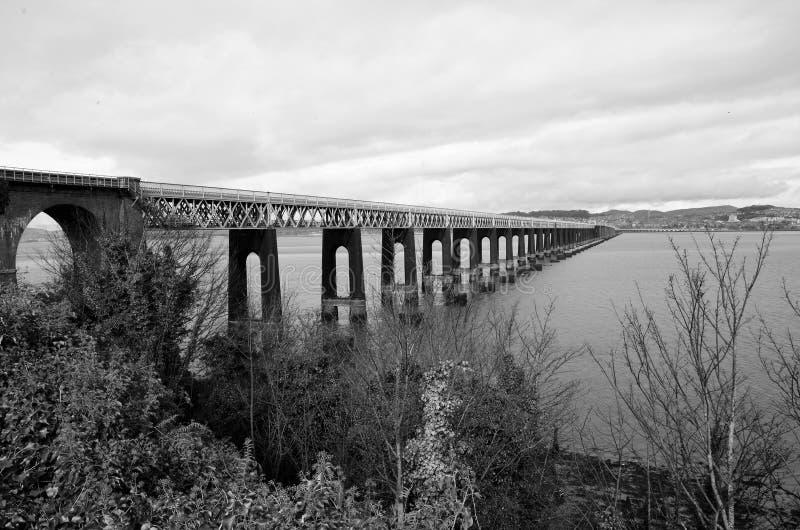 Oriëntatiepunten van Schotland - Tay Bridge royalty-vrije stock fotografie