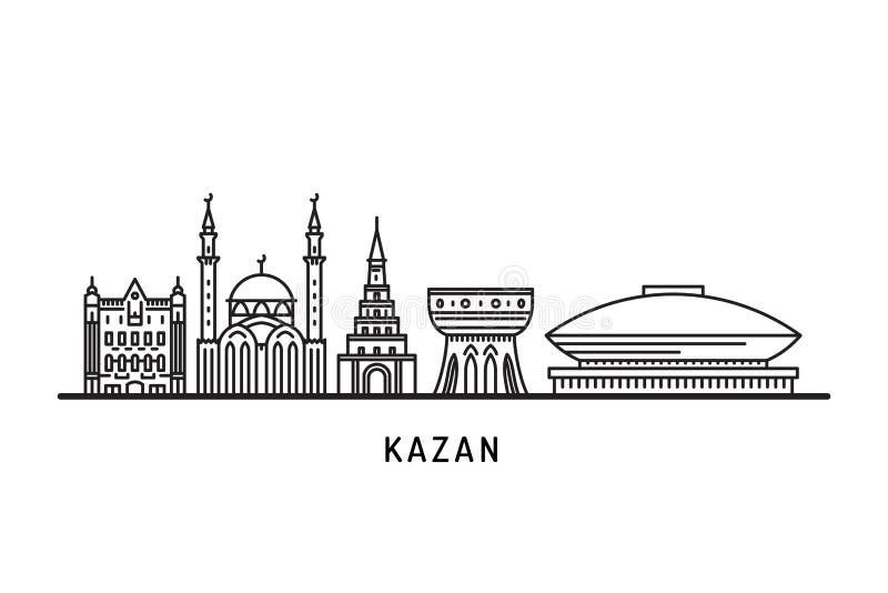 Oriëntatiepuntenhorizon van Kazan vector illustratie
