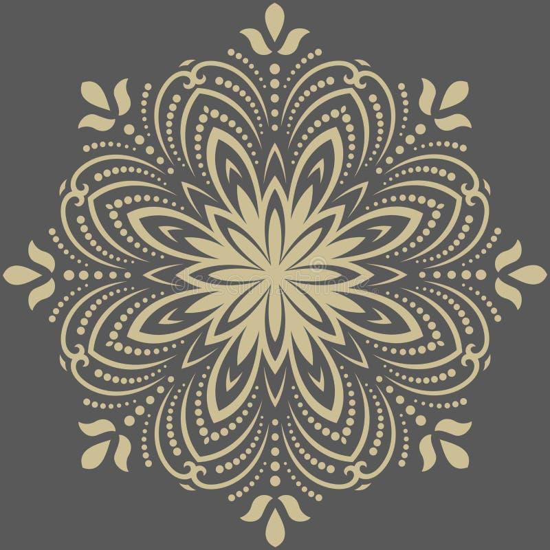Oriënteer Abstract Vectorpatroon royalty-vrije illustratie