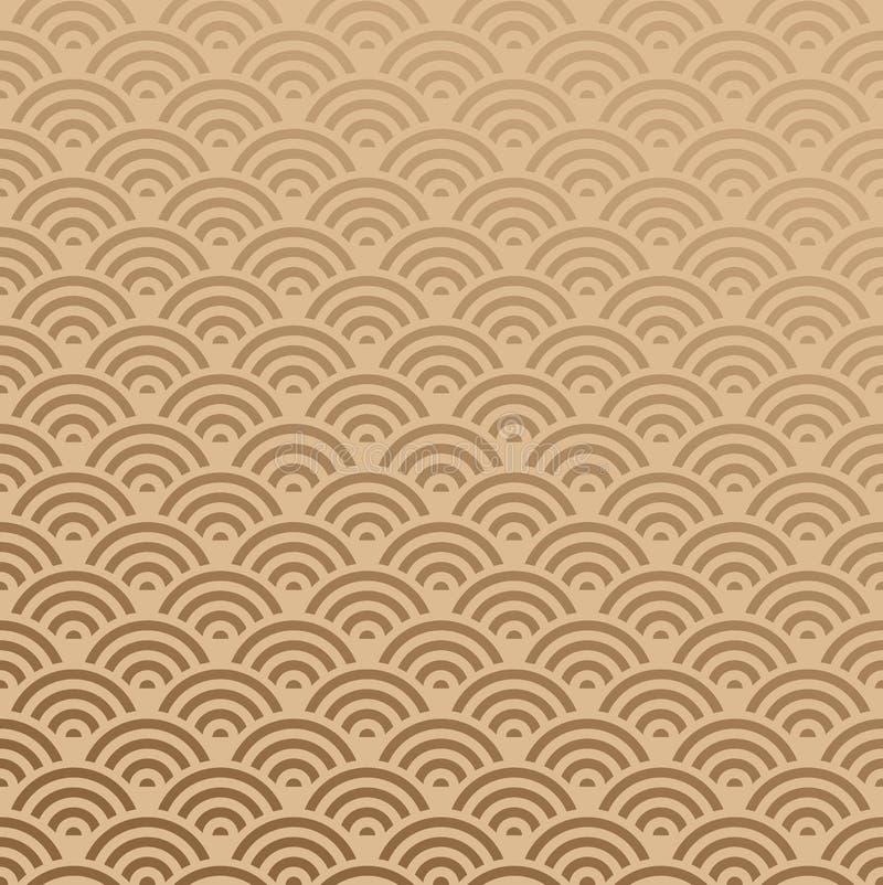 Oriënteer Naadloos Patroon stock illustratie
