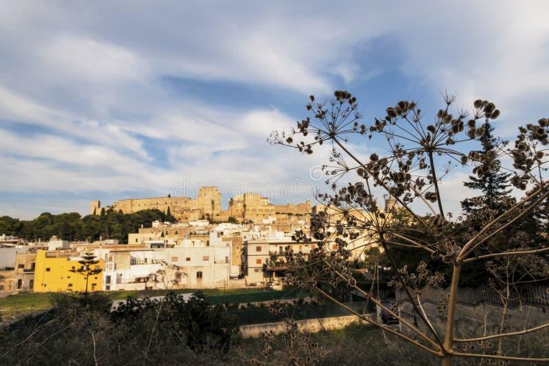 Oria, Salento,意大利中世纪城堡  库存图片