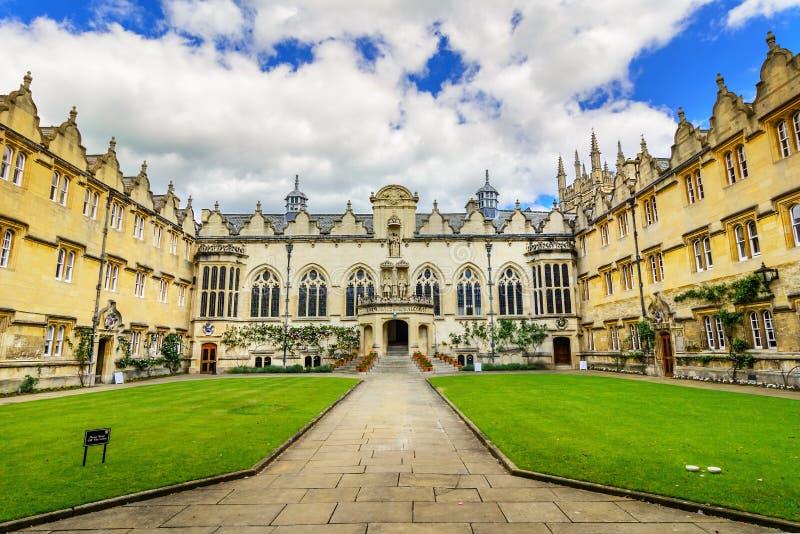 Oriel högskola, Oxford, England, Förenade kungariket arkivbild
