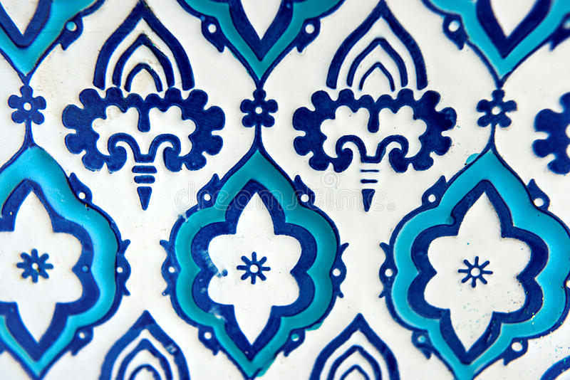 Orient blue and white pattern royalty free stock photography