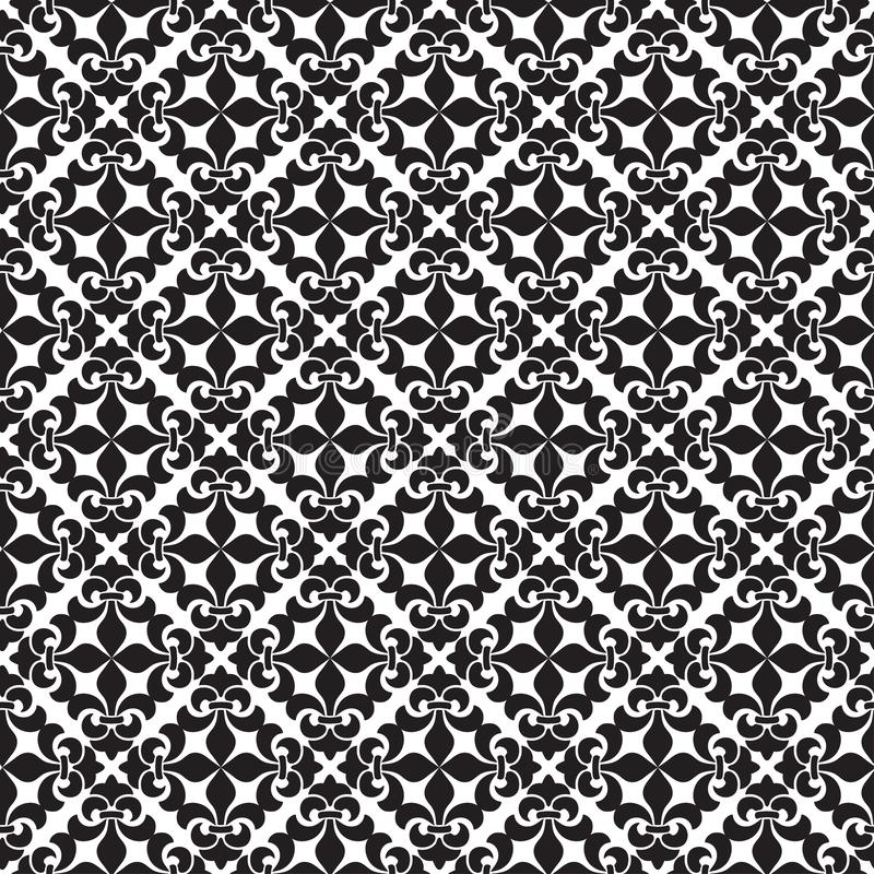 Orient  classic pattern. Seamless abstract background with vintage elements. Damask black and white royalty free illustration