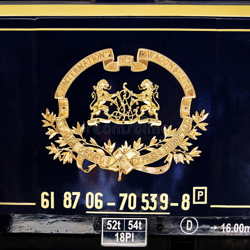 Orient Express emblem royalty free stock image