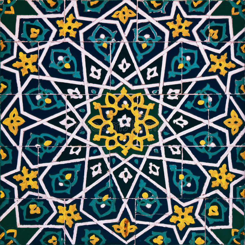 Orient pattern. Aged oriental pattern made of tiles royalty free stock images