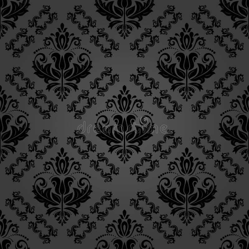 Orient Seamless Vector Dark Background vector illustration