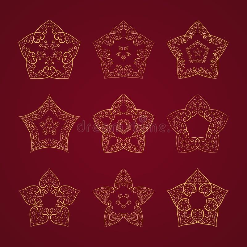 orient setu gwiazda ilustracji