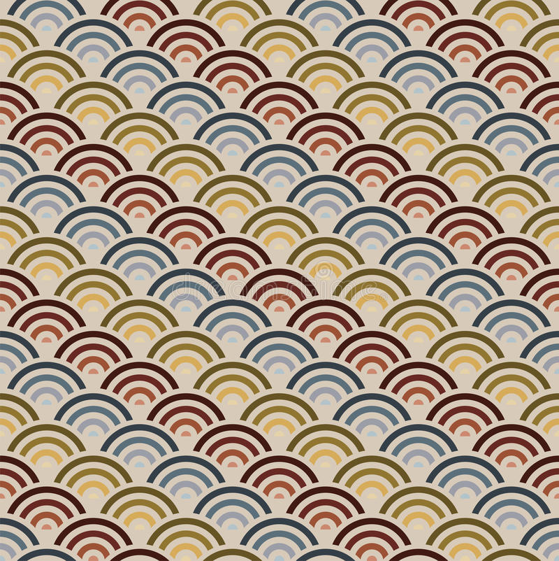 Orient style circles background stock illustration