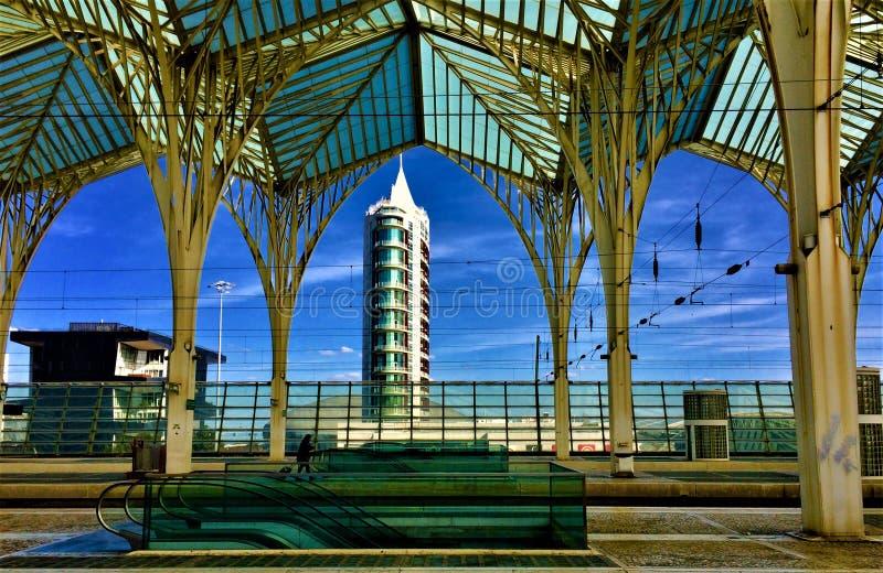 Orient tunnelbanastation - Lissabon royaltyfri bild