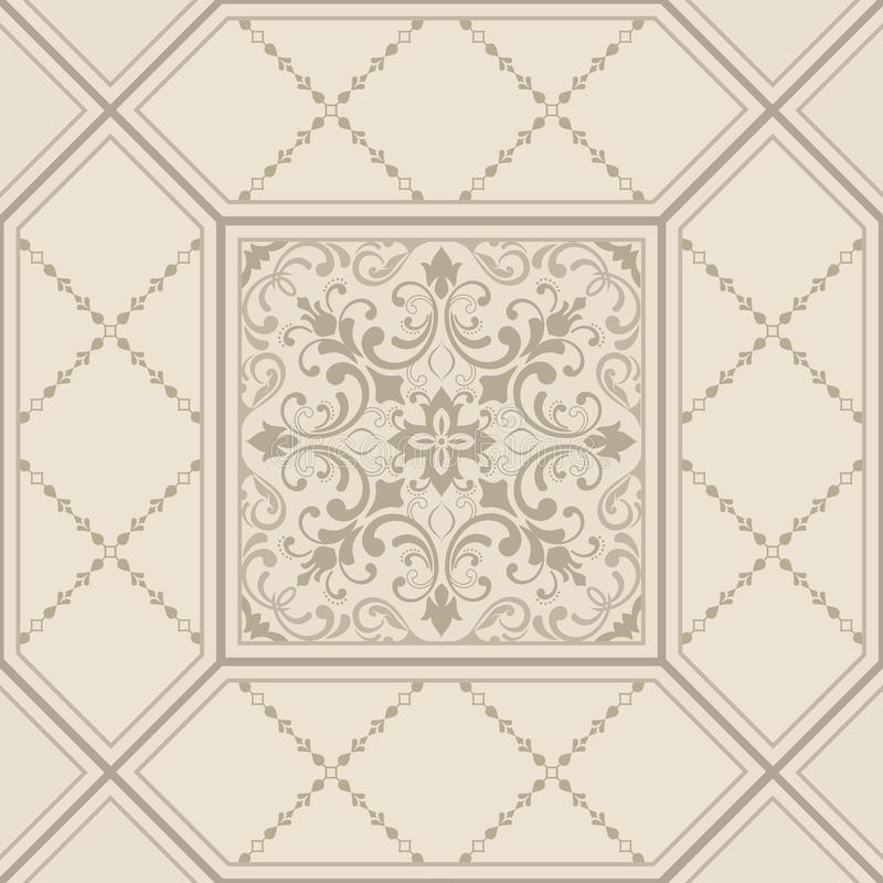 Orient vector classic pattern. Seamless abstract background with repeating elements. Damask pattern. Tile. stock illustration