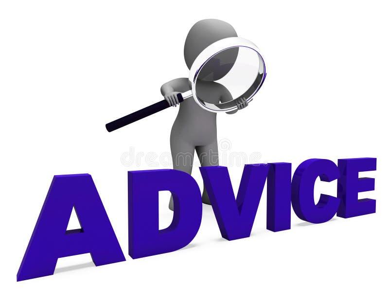 A orientação Councel dos meios do caráter do conselho recomenda ou sugere ilustração stock