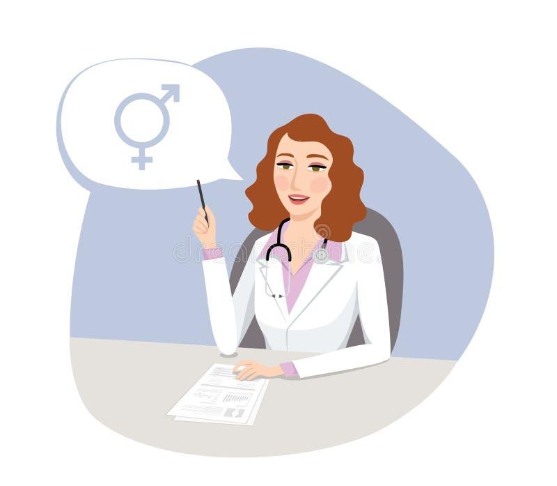 Orientação sexual - conceito médico ilustração royalty free