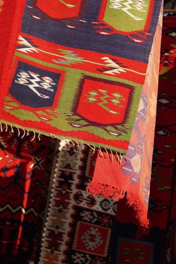 Orientał, kolorowy handmade tradycyjny woolen dywanik obraz royalty free