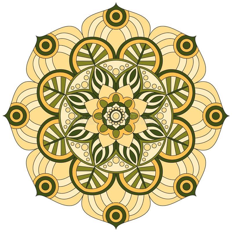 Orientała wzór Tradycyjny round kolorystyka ornament mandala ilustracja wektor