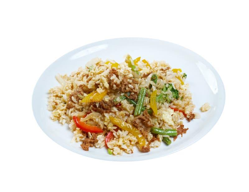 Orientały smażący ryż tyahan - obrazy royalty free