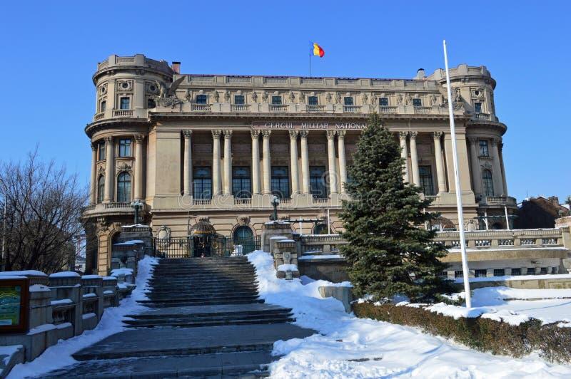 Orientación del paisaje de un edificio rumano del palacio imagen de archivo