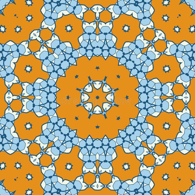 Oriental étnico geométrico ikat-como el diseño estilizado tribal del modelo inconsútil para la tela, alfombra, ropa, envolviendo ilustración del vector