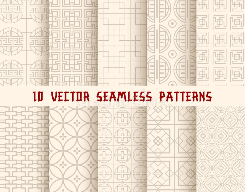 Oriental or asian seamless pattern background vector illustration