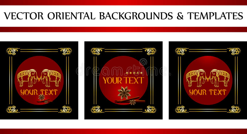 Download Oriental Backgrounds And Templates Stock Vector - Illustration of cinnamon, ornaments: 24608286