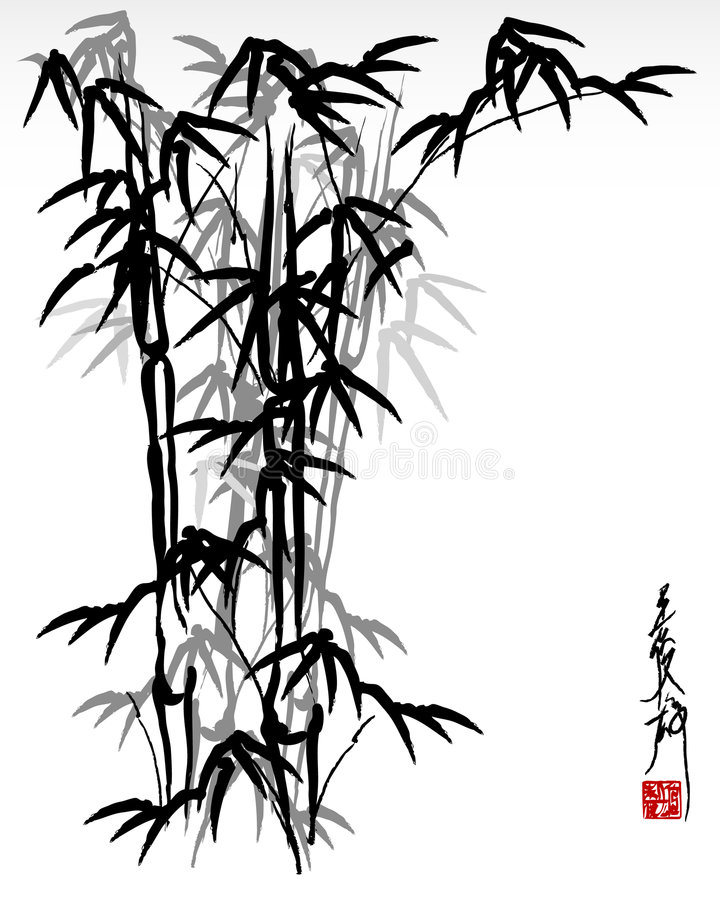 Oriental bamboo vector illustration