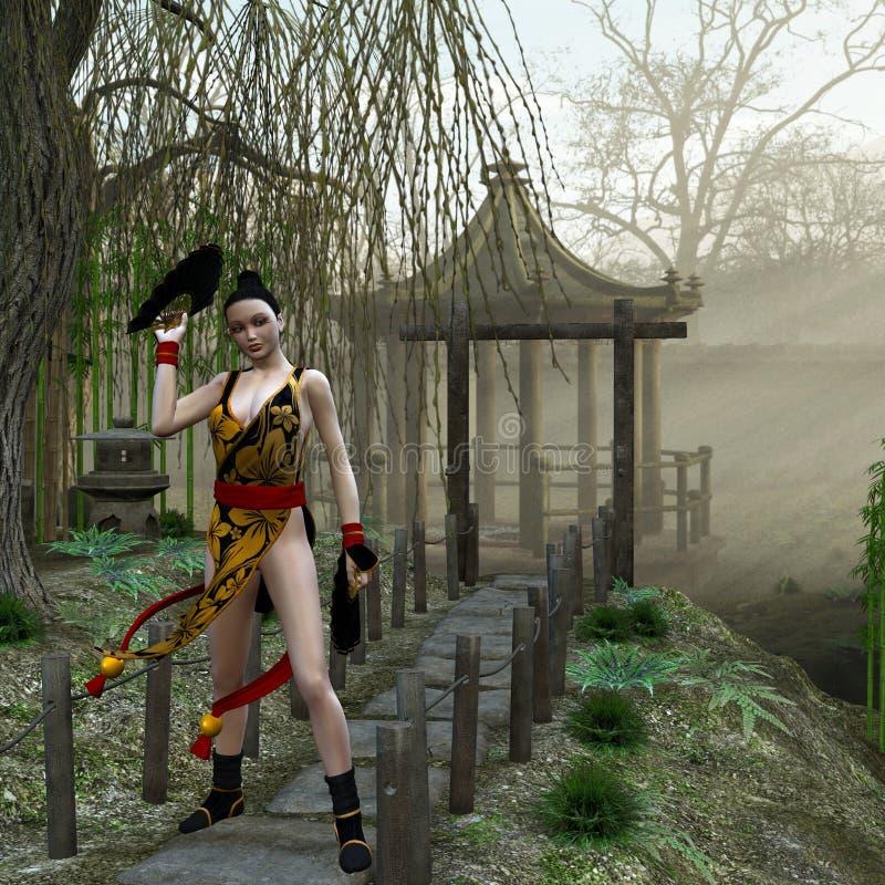 Oriental Beauty stock illustration