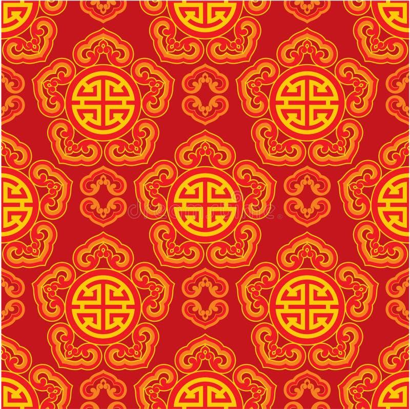 oriental bezszwowy deseniowy royalty ilustracja