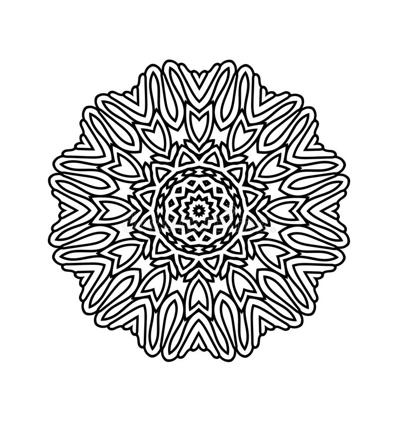 download oriental black and white mandala stock illustration image 77297562 - Fractal Coloring Book
