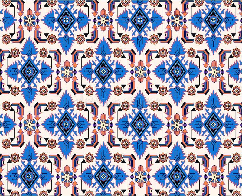 Oriental blue white carpet vector vector illustration