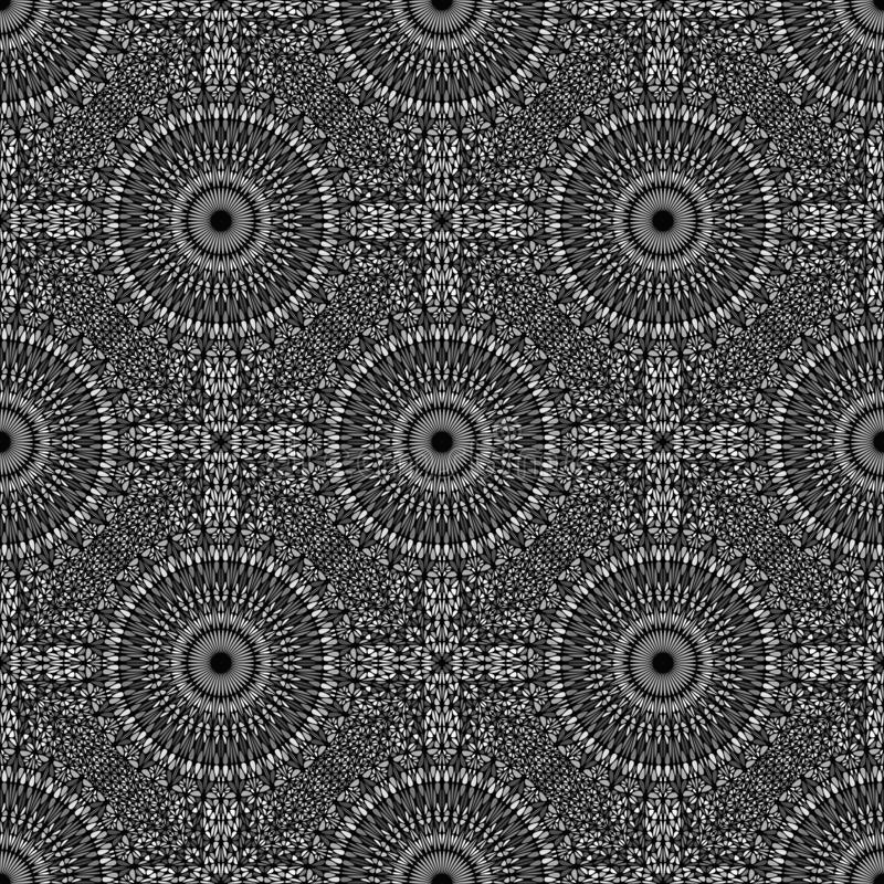 Oriental bohemian black and white mandala flower pattern background. Geometrical black and white oriental kaleidoscope mandala pattern art - elegant spiritual vector illustration