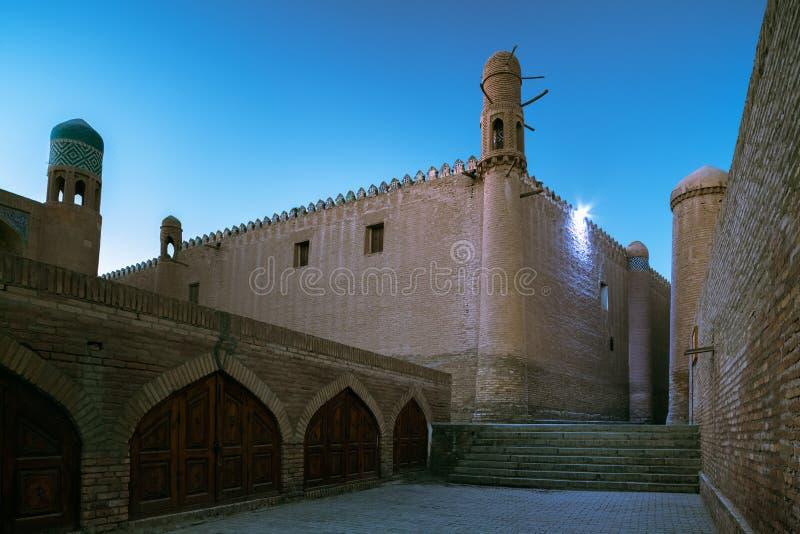 Oriental buildings in the city. Of Itchan Kala. Khiva, Uzbekistan royalty free stock photography