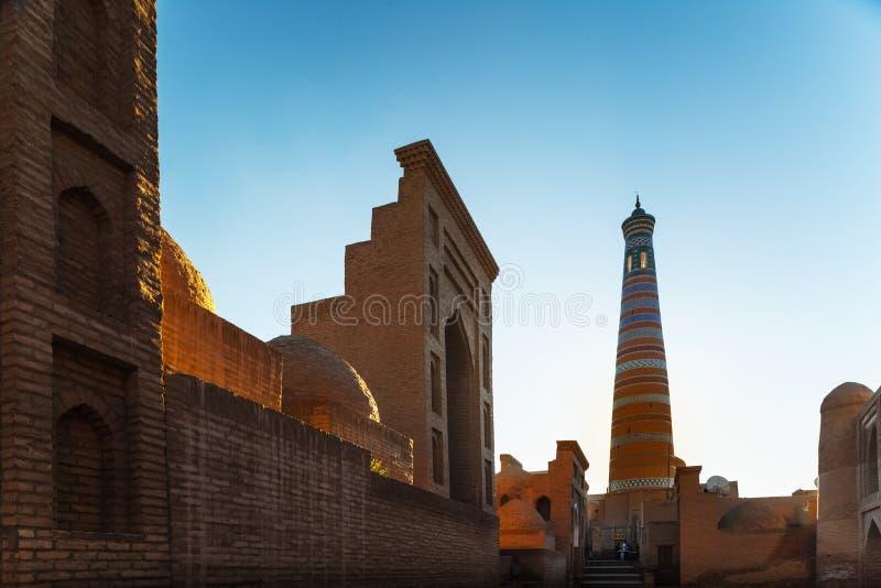Oriental buildings in the city. Of Itchan Kala. Khiva, Uzbekistan royalty free stock photos