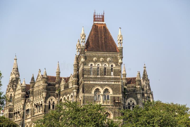 Oriental buildings in Mumbai, India. View at Oriental buildings in Mumbai, India royalty free stock images