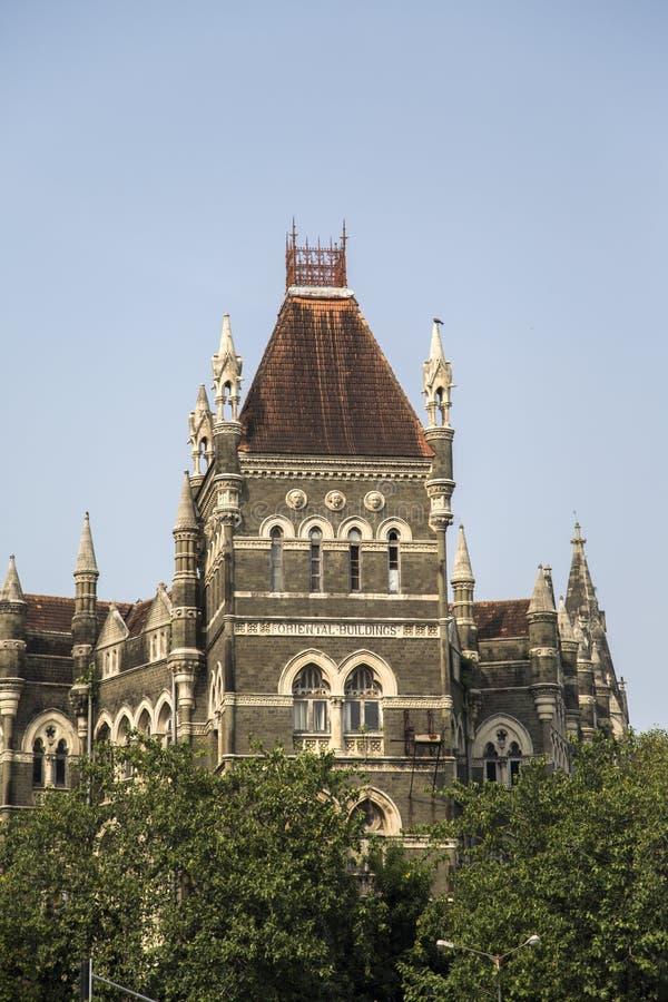 Oriental buildings in Mumbai, India. View at Oriental buildings in Mumbai, India stock photo