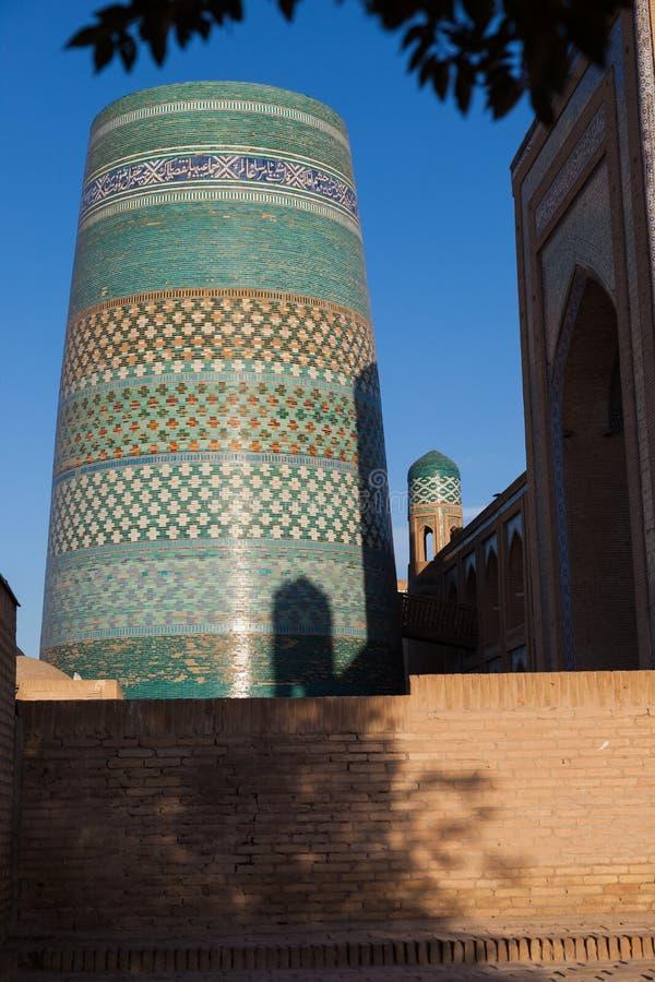 Kalta Minor minaret in Khiva, Khorezm Region, Uzbekistan. Oriental buildings of old city of Itchan Kala. Khiva, Uzbekistan stock image