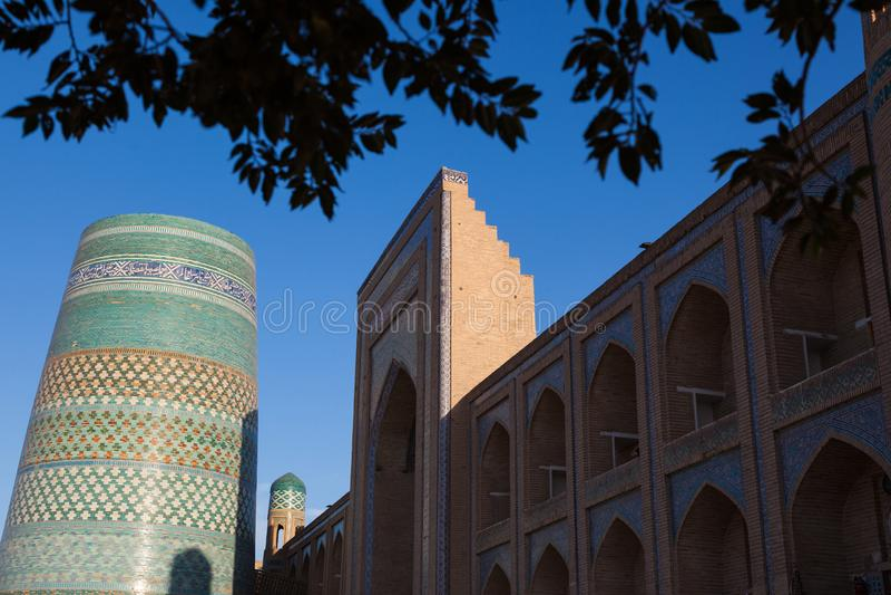 Kalta Minor minaret in Khiva, Khorezm Region, Uzbekistan. Oriental buildings of old city of Itchan Kala. Khiva, Uzbekistan stock photos