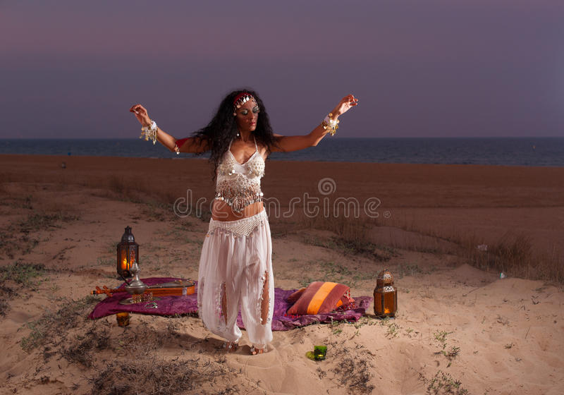 Oriental dance royalty free stock photography