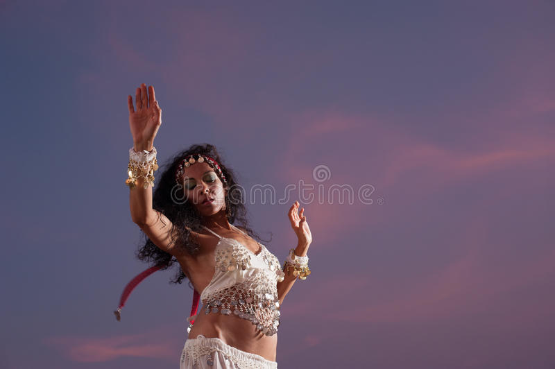 Oriental dancer stock photography