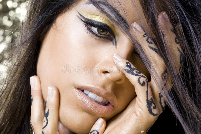 Download Oriental dancer woman stock photo. Image of makeup, beauty - 18114950