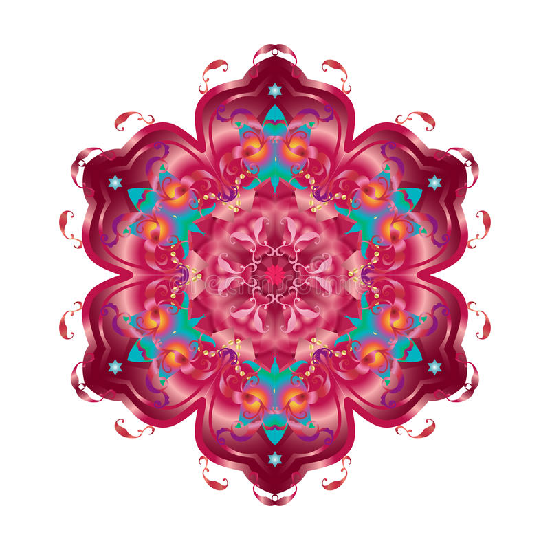 Download Oriental decorative flower stock illustration. Illustration of border - 68647172
