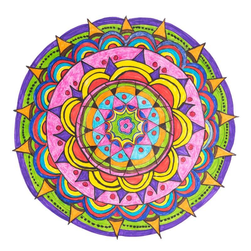 Oriental decorative hand drawn mandala pattern vector illustration